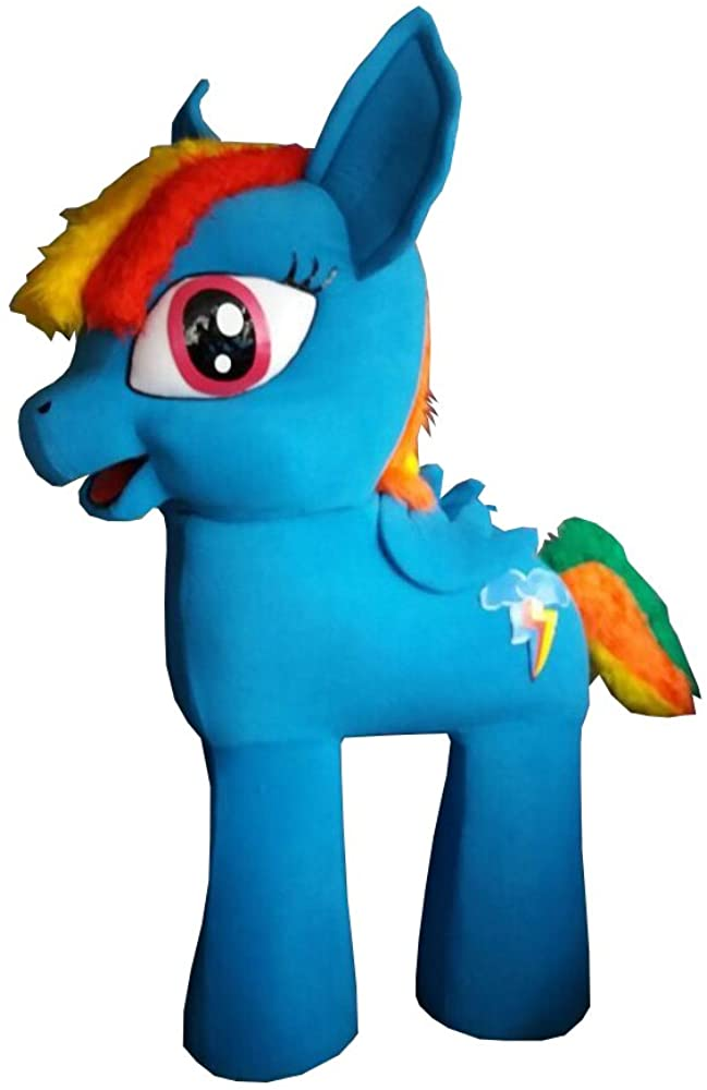 My Little Pony Character Rainbow Dash Mascot Costume Cosplay Halloween Party Event