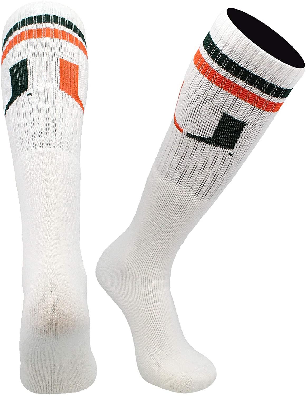 TCK Miami Hurricanes Socks Throwback Tube Socks