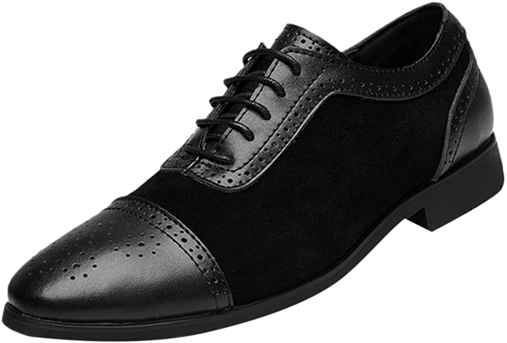 Italy Modern Oxford Shoes-RQWEIN Mens Driving Casual Shoes Zipper Loafers Light-Weight Soft Oxford Walking Shoes