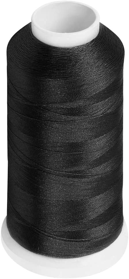 Desirable Life Bonded Nylon N66 Sewing Thread 1500 Yards Size #69 T70 210D/3 for Leather Denim Hand Machine Craft Shoe Bag Repairing Extra Strong Heavy Duty UV Rays Resistant Waterproof (Black)