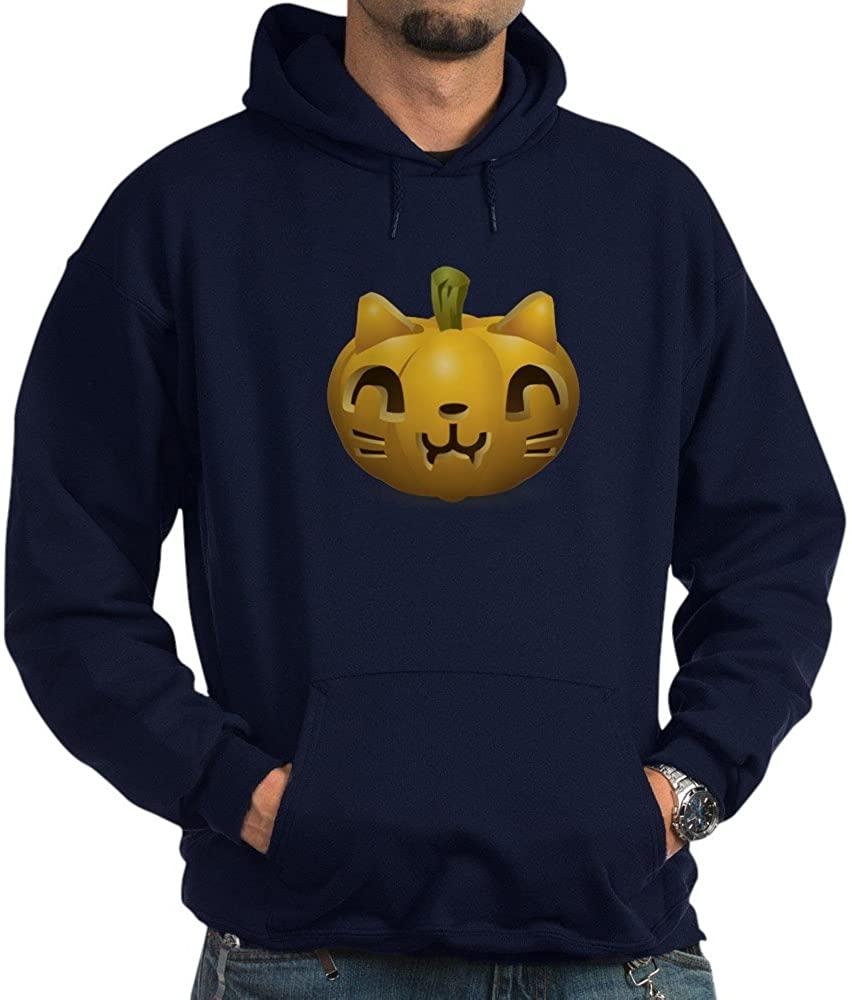 Truly Teague Hoodie (Dark) Kitty Cat Halloween Jack-O-Lantern