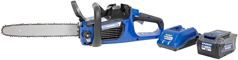 Wild Badger Power WB40VCS 40 Volt Brushless Cordless Chain Saw, Blue