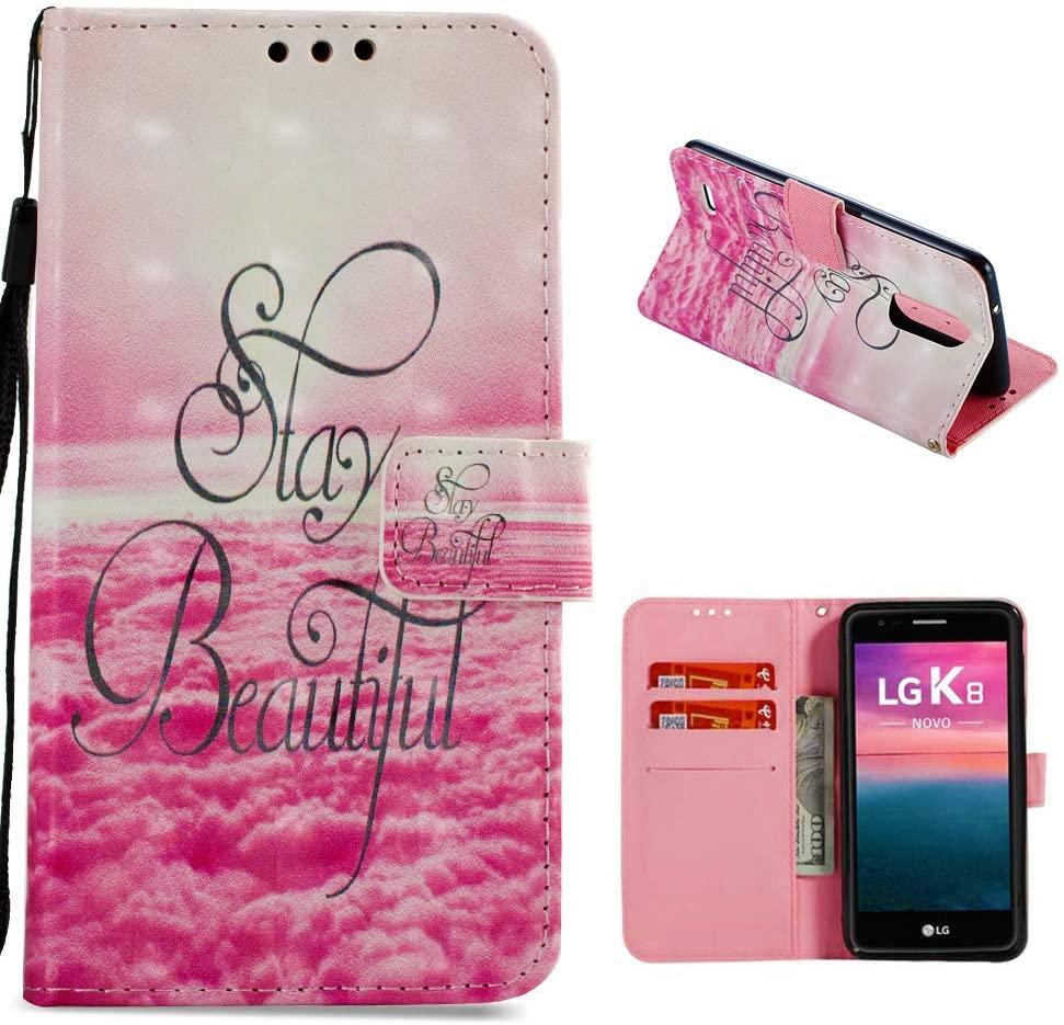 LG Aristo Case, LG LV3 Case, LG K8 2017 Case, Eveurn Premium PU Leather Flip Folio Wallet Case with [Kickstand][ID&Credit Card Pockets] for LG Aristo/LG LV3 (MS210)/ LG K8 2017