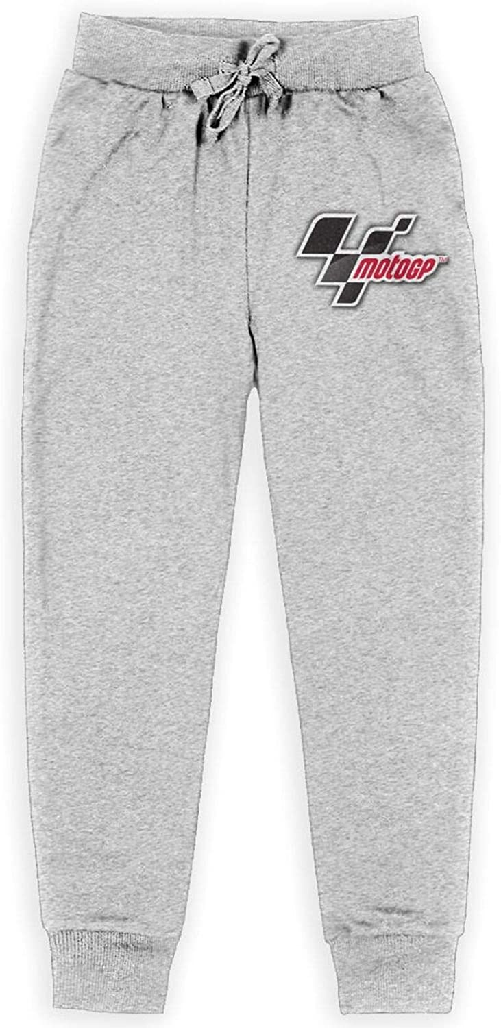 Nyf Moto-Gp Logo Kid's Child Pants Teenagers Sweatpants Soft Casual Pull-On Jogger Sweatpant with Pockets Gray