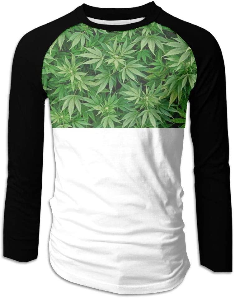 PIN Men's Weed Marijuana Leaf Baseball Tshirts Sports Raglan T-Shirt The First Piece of Printing Tee