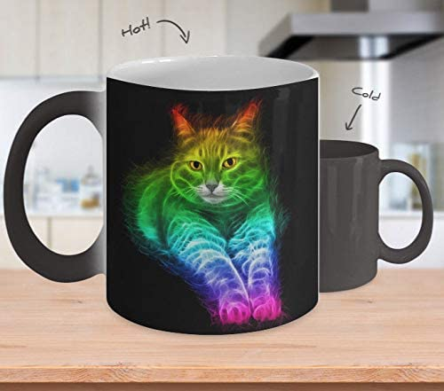 Inspirational Kitty Mug 2018-3D Lightning Cat - Color Changing Coffee Mug