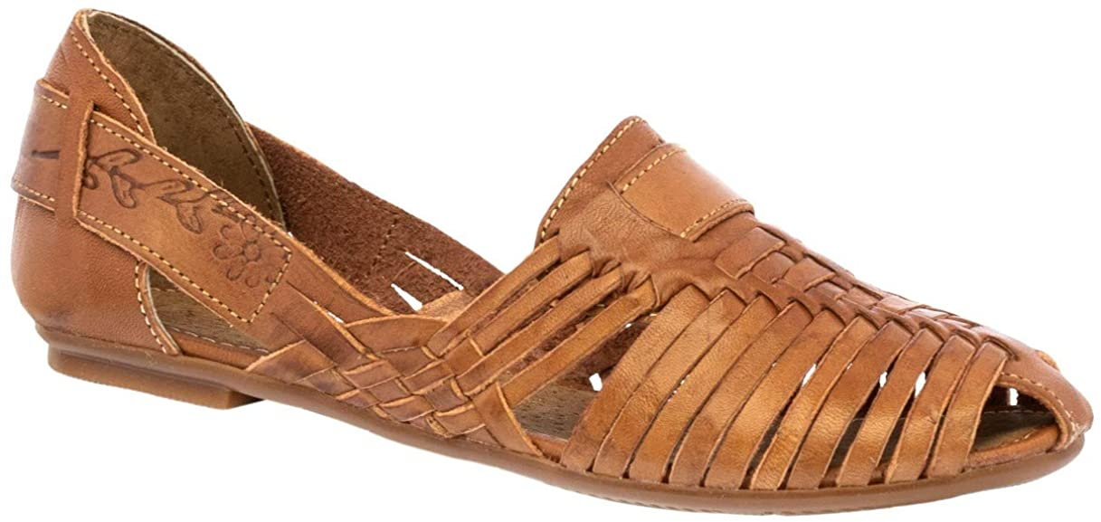 Cowboy Professional Women's 110 Light Brown Leather Sandals Mexican Huaraches Slip On