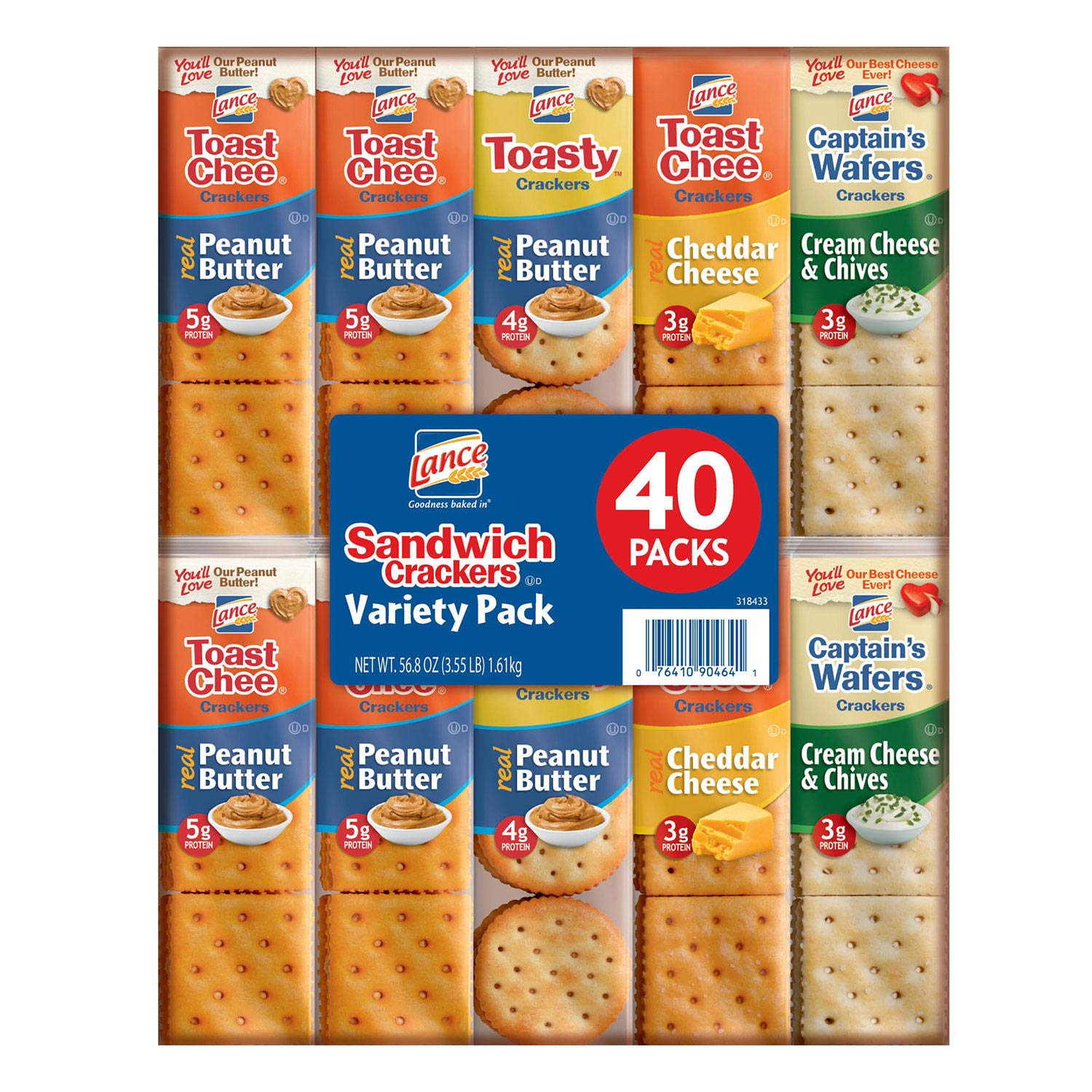 EVAXO Lance Sandwich Crackers, Variety Pack (1.41 oz., 40 ct.) #S
