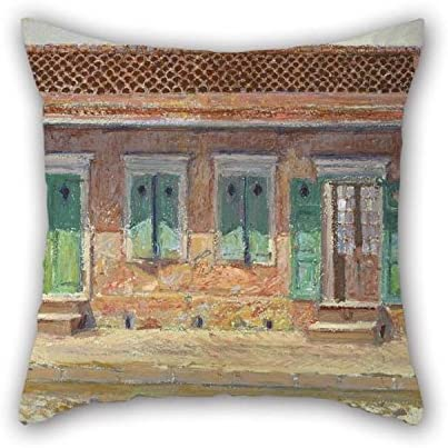 Throw Pillow Case Of Oil Painting William Woodward - House On Dumaine Street, New Orleans 16 X 16 Inches / 40 By 40 Cm Best Fit For Monther Family Father Living Room Office Sofa 2 Sides