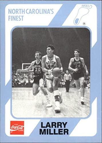 Larry Miller Basketball Card (North Carolina) 1989 Collegiate Collection Coca Cola #24