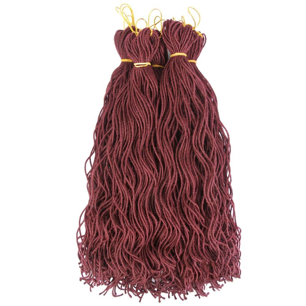 2Pcs/Lot Goddess Faux Locs Crochet Braids Twist Curly Hair Soft Dread Hair Extension Bouncy African Wavy Dreadlocks Hairstyles Bug#