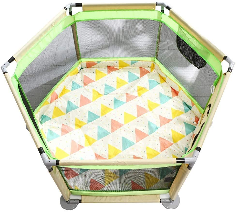 HEWEI Playpen for Children Portable Baby-Toddler Fence with Non-Slip mat Safety Barrier for Boys and Girls The Best Birthday Gifts Extra Large 65 cm