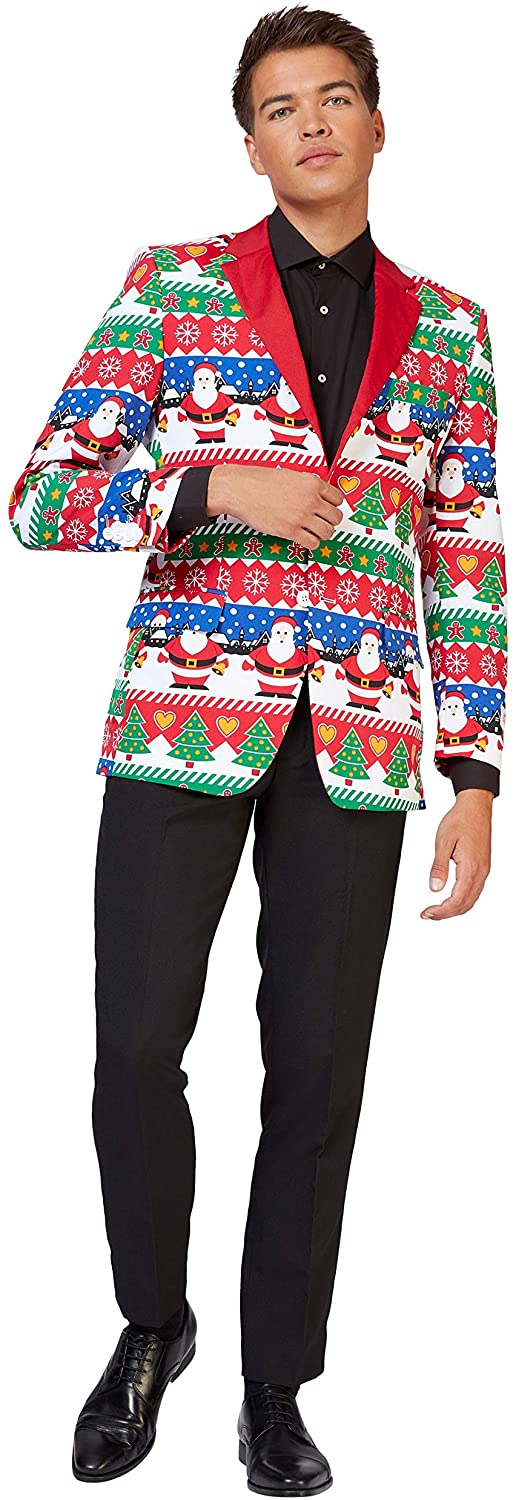 Opposuits Christmas Jackets Blazers for Men in Different Prints - Includes Stylish Jacket