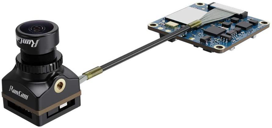 RunCam Split 4 4K FPV Camera with FOV 140° Low Latency, DC 5-20V Nano HD Recording 16:9/4:3 NTSC/PAL Switchable Version for FPV Drone, Black