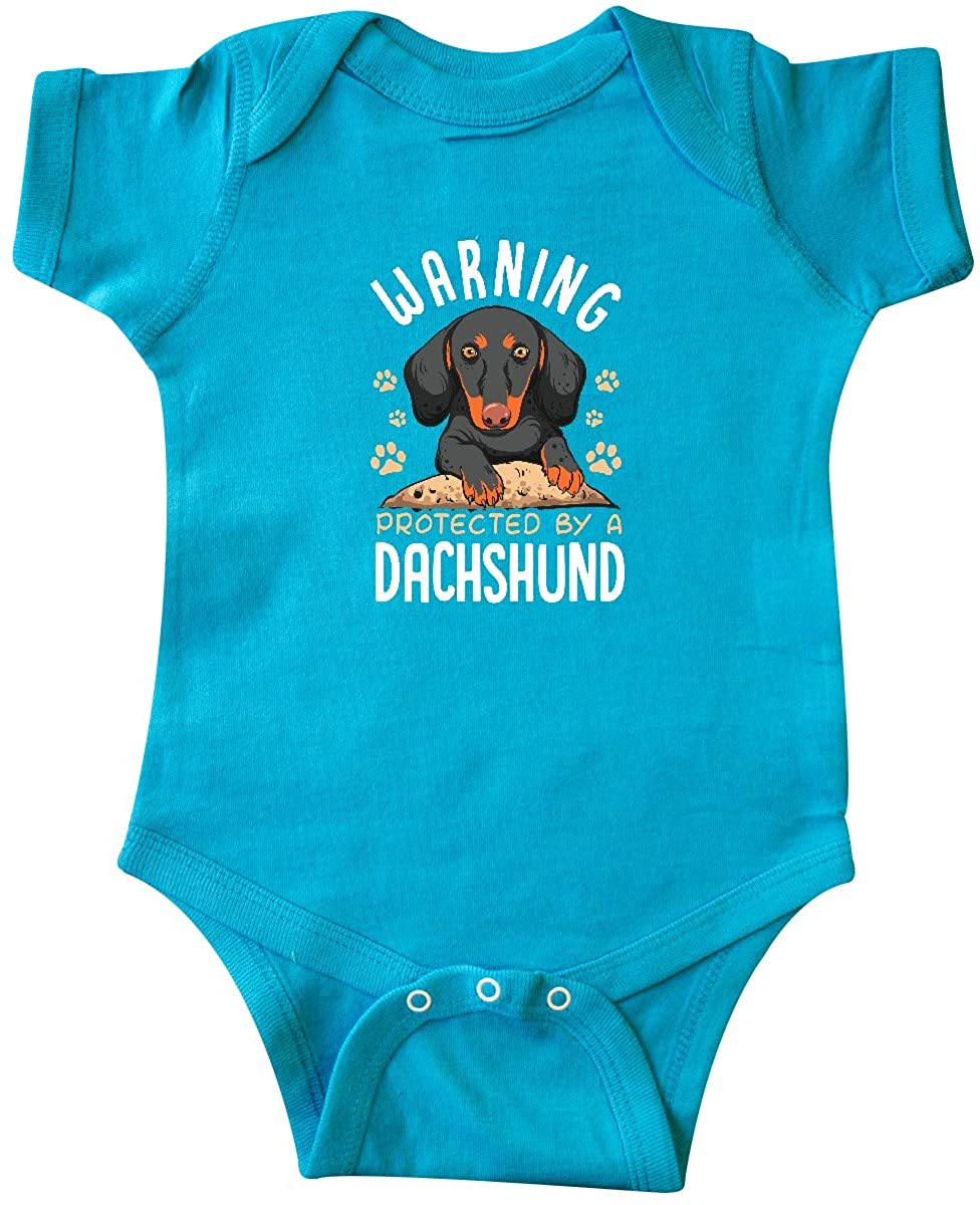 inktastic Protected by a Dachshund Dog Infant Creeper