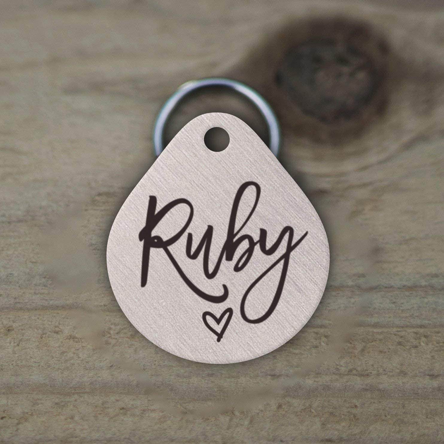 Mini Wim Stainless Steel Pet ID Tags, Personalized Dog Tag and Cat Tag, Rose Gold, and Silver, 5 Lines of Custom Text, Engraved on Both Sides, in Round, Bone, Diamond, and More