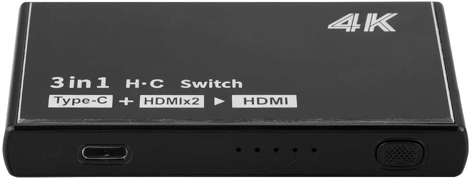 HDMI Switcher, 4K Full HD1080P 3-Port HDMI Switcher HDMI Splitter Signal Adapter Converter for Windows/MAC/Linus.