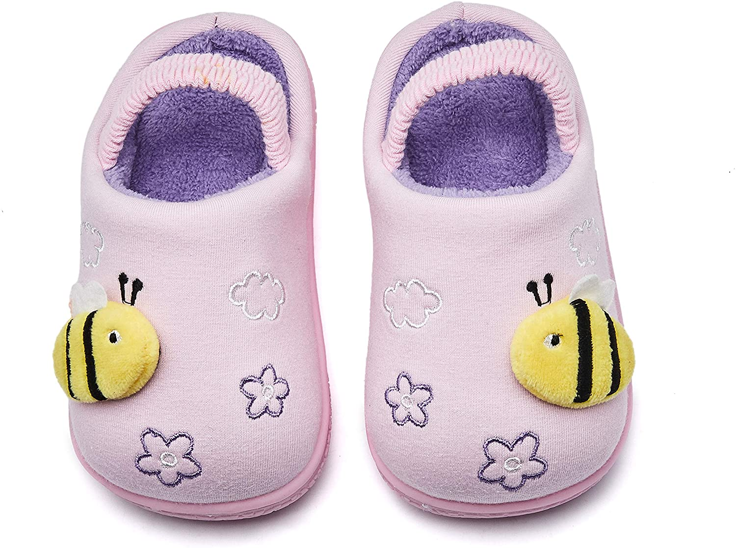Girls Warm Slippers Cartoon Kids Winter Indoor Household Shoes