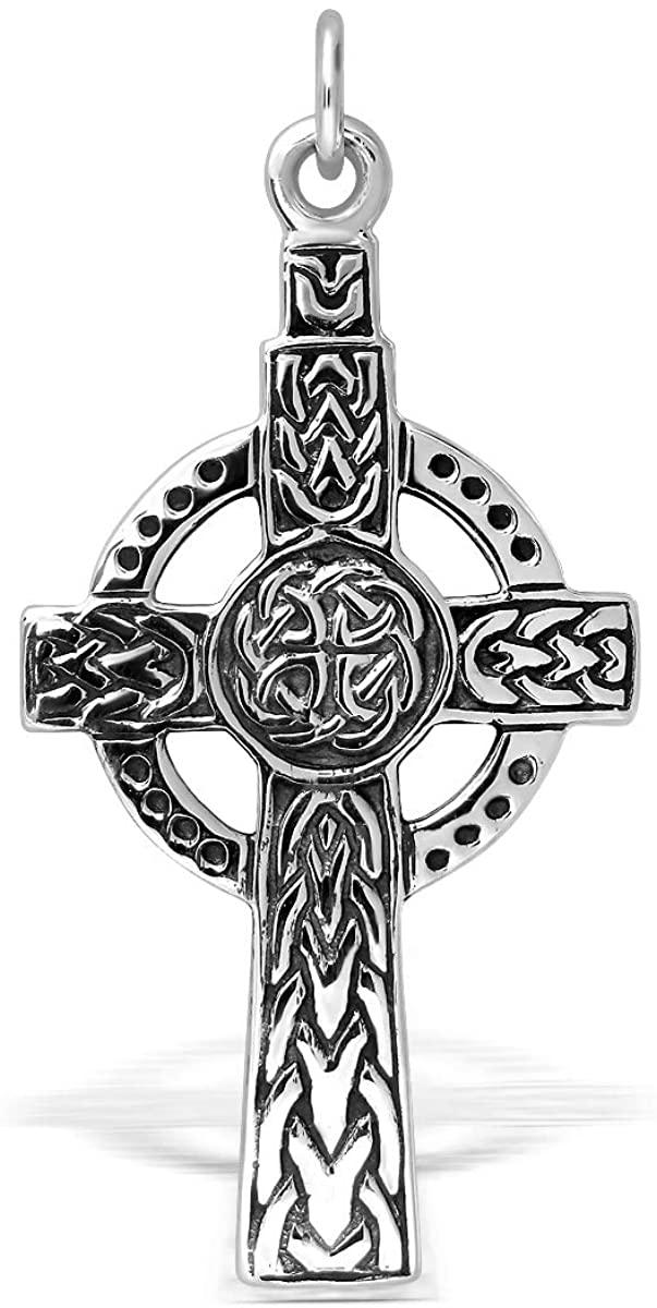 WithLoveSilver Sterling Silver 925 Celtic Cross Pendant