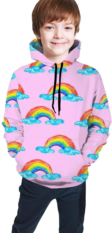 QSMX Kids Boys Girls Graphic Hoodies Pullover Sweatshirt Spring Fall Sweater Hoodie for Teens Running,Hiking,Traveling S-XL
