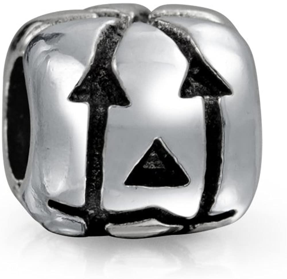 Jack O Lantern Halloween Pumpkin Square Charm Bead For Women For Teen 925 Sterling Silver For European Bracelet