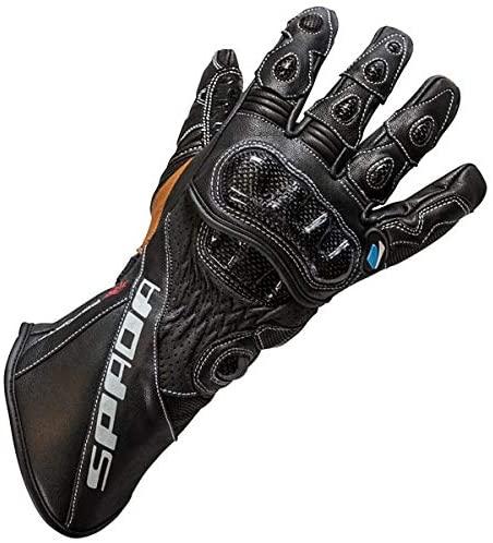 Spada Predator 2 Leather Summer Race Motorbike Motorcycle Gloves - Black S
