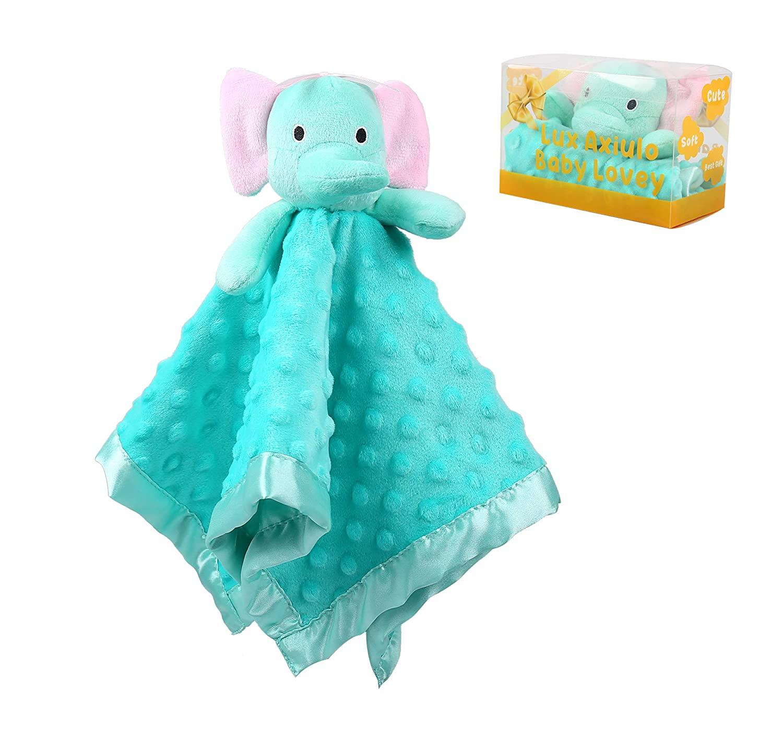 Baby Blankets for Girls, Loveys for Babies, Lovey Unisex Security Blankets for Babies as a Baby Gifts to Your Baby Security Blankets for Babies Bunny(Elephant,Teddy Bear,Rabbit,15in) (Elephant)