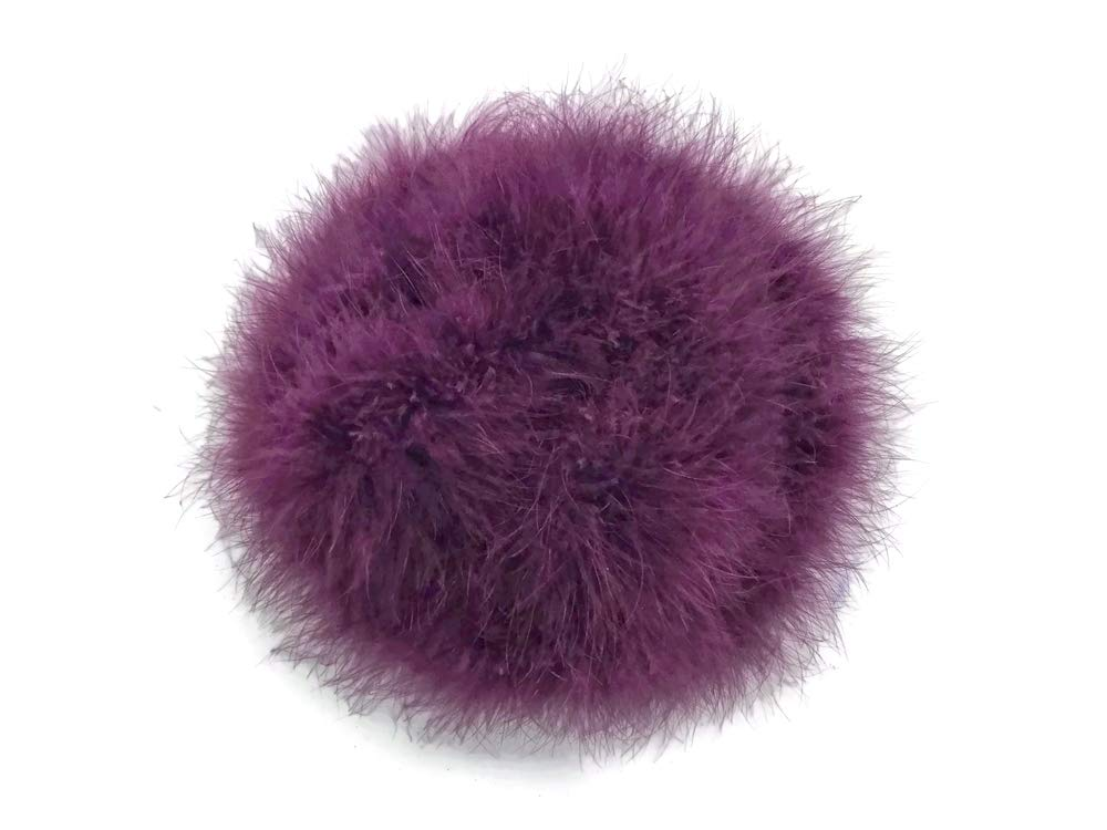 2 Yards - Plum Turkey Medium Weight Marabou Feather Boa 25 grams Halloween Costume Party Supply | Moonlight Feather