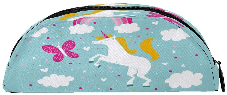 Pencil Cases Adorable Unicorn Zipper Pencil Bag Multifunctional Stationery Cosmetic Makeup Holder Pouch for Kids Girls Boys Men Women