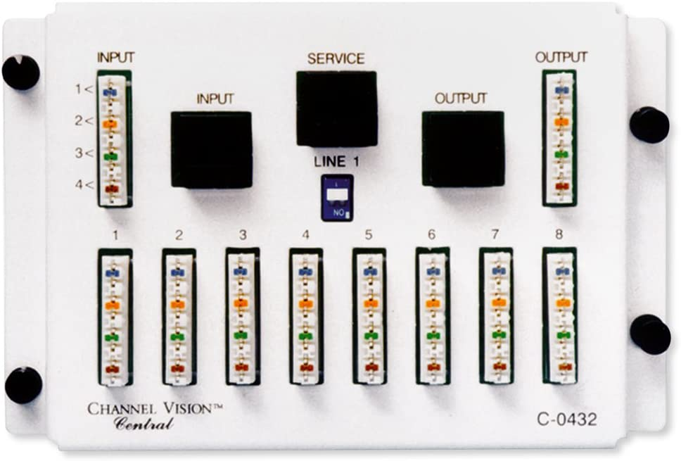 Channel Vision 4x8 110 Telephone Distribution Module (C-0432)