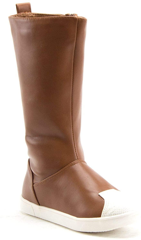 Jazamé Little Toddler Girls' Chic Knee High Fashion Sneaker Dress Boots
