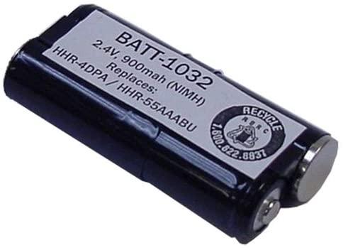 Compatible Cordless Phone Battery, Works with Panasonic KX-TG6511B Cordless Phone, (Ni-MH, 2.4V, 900 mAh) Ultra Hi-Capacity, Compatible with Panasonic HHR-4DPA, Jabra AHB5-2229PS Battery