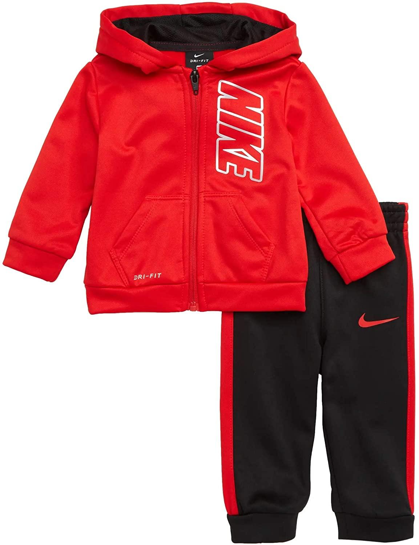 Nike Boy`s Therma Full Zip Hoodie & Jogger Pants 2 Piece Set