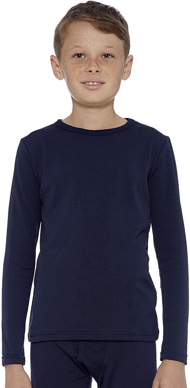 Rocky Boy's Fleece Lined Thermal Long Sleeve Top Crewneck Underwear Base Layer T-Shirt