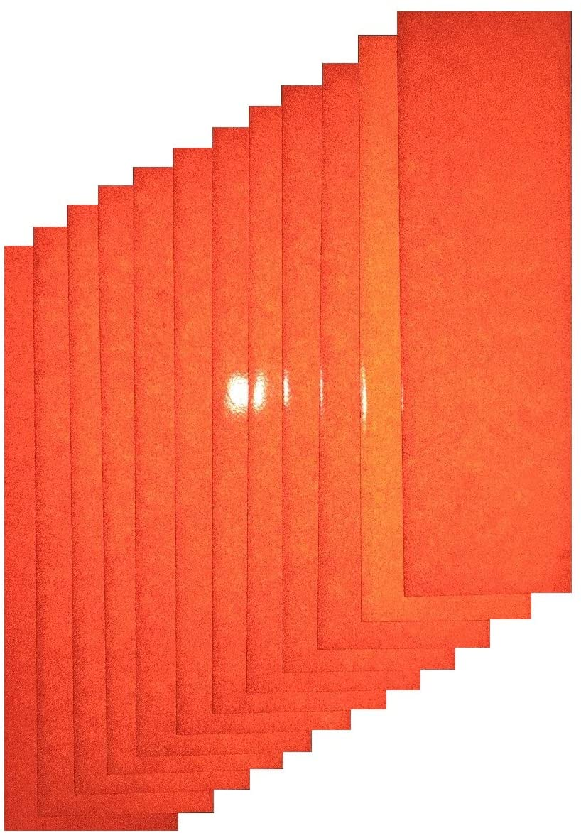 Motorcycle ATV Orange Reflective Adhesive Vinyl Tape 3.5