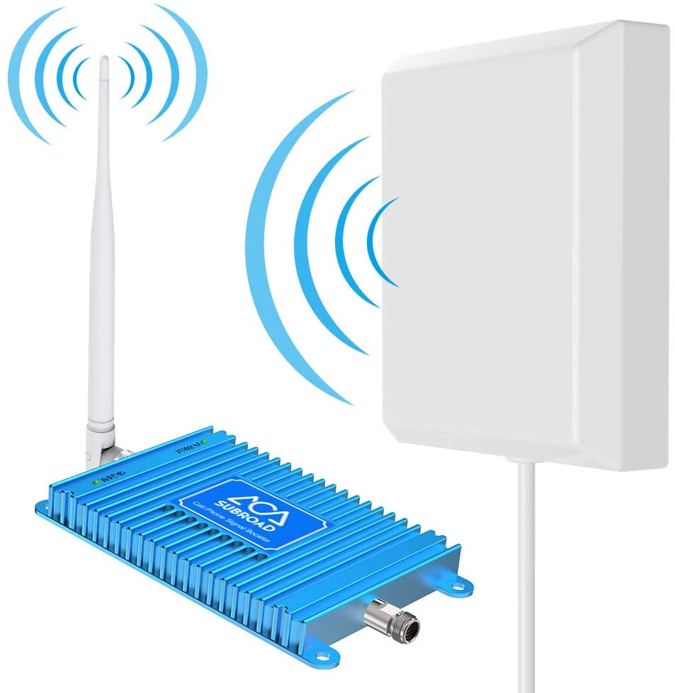 Cell Phone Booster for Home, ATT T-Mobile 4G LTE Cell Phone Signal Booster Subroad 700Mhz FDD Band 12/17 Mobile Cellular Amplifier Repeater Kits Extend Coverage Up to 2,000Sq Ft