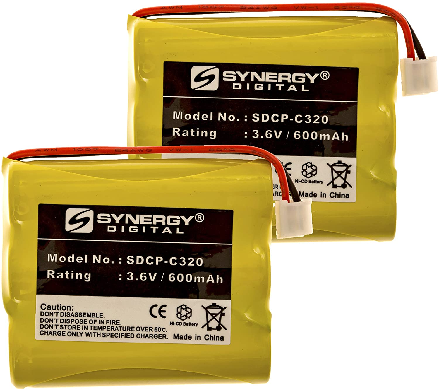 AT&T E5908 Cordless Phone Battery Combo-Pack Includes: 2 x SDCP-C320 Batteries