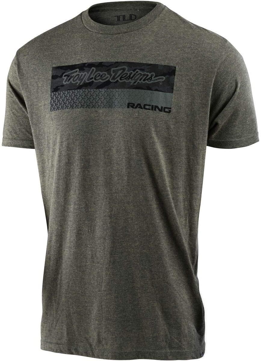 Troy Lee Designs Men's Racing Block Feed Shirts,Medium,Sage Black Heather