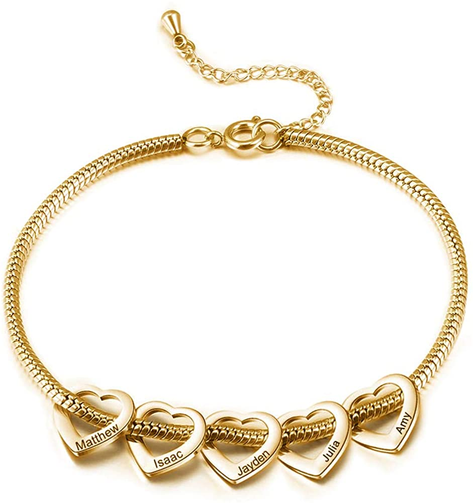Personalized Anklets for Women Adjustable Silver Gold Anklets with Heart Name Initial Ankle Bracelets for Women Jewelry