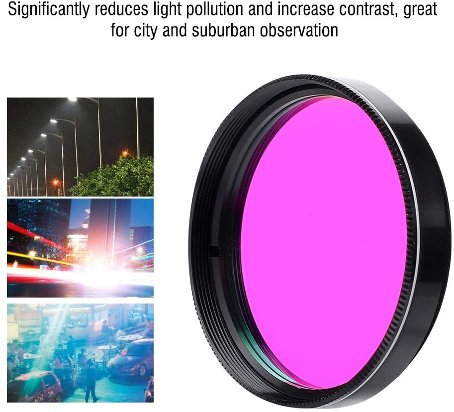 fosa1 2 Inch Ultra High Contrast UHC Telescope Filter for Observation Deep Sky Object, Lens Light Pollution Reduction Filter Astronomy for Telescope Eyepiece