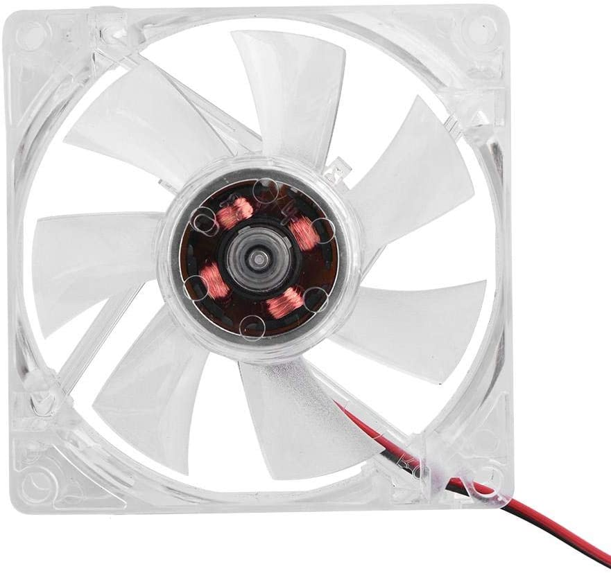 LED Cooling Fan for Computer PC Cases,80mm Low Noise 4-Pin Computer Case PC Cooling Fan(Blue Light)(Blue)