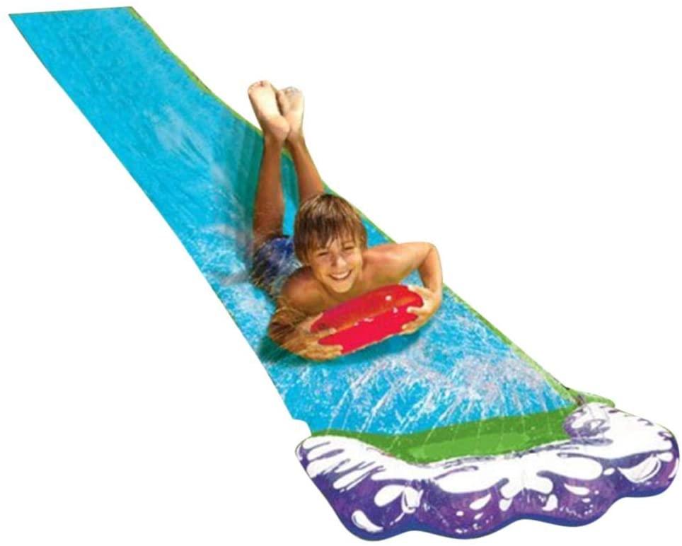 Childrens Kids Water Slide Fastest Slip'n Slide Waterproof Water Slide Tarp for Children Outdoors