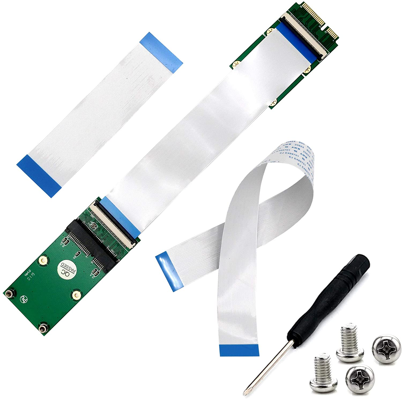 Mini PCI-E Express mSATA Extension Cable pcie Extender for Wireless Card mSATA SSD