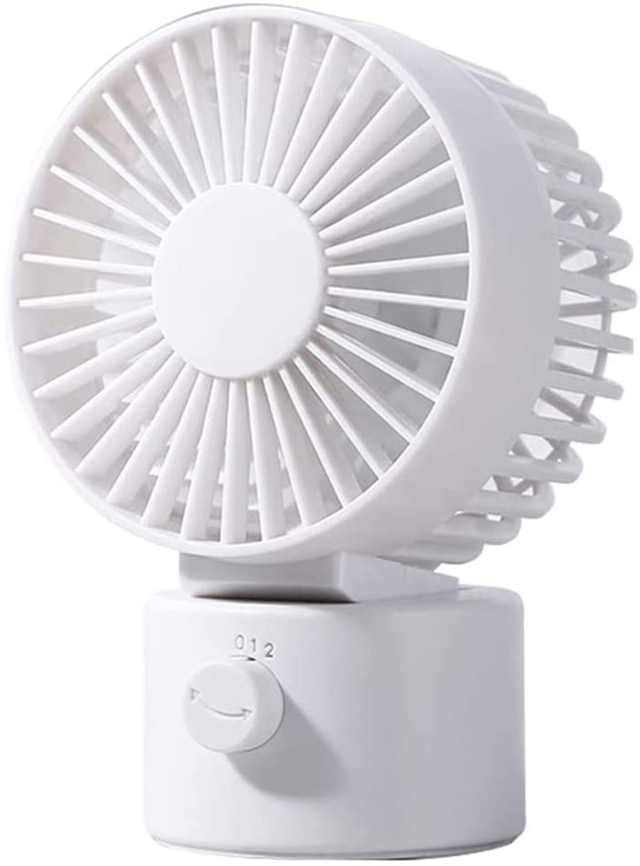 USB Desk Fan, Mini Personal Fan, USB Powered Portable Cooling Fan, Perfect for Office and Home (white)
