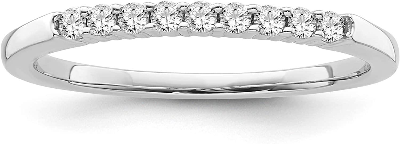 10K Gold 1/6 CTW Diamond Engagement Band Ring for Women