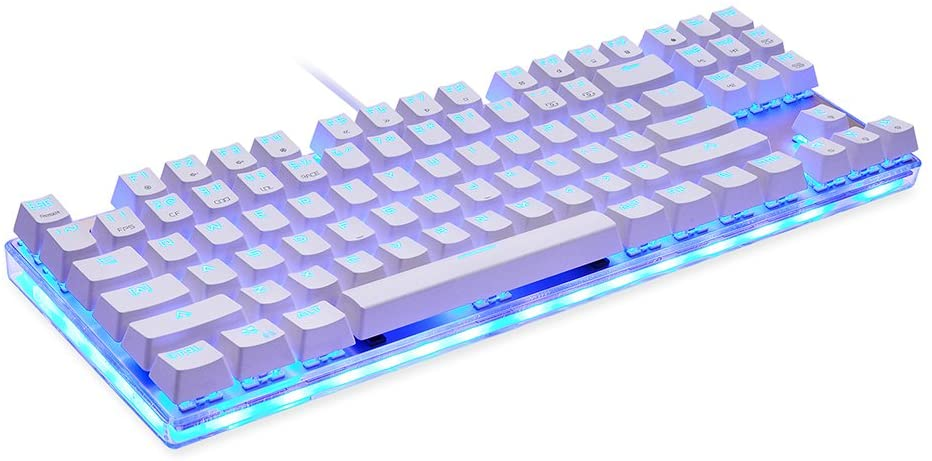 MOTOSPEED K87S Mechanical Keyboard Gaming Keyboard Wired USB Customized LED RGB Backlit with 87 Keys