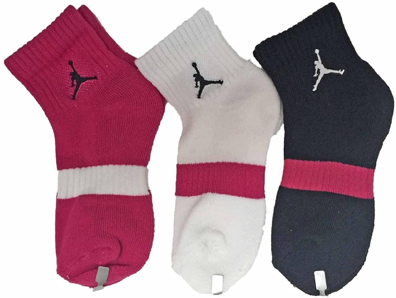 Jordan Girl's 3-Pack Quarter Socks 10C-3YShoe Size/5-7 Sock Size