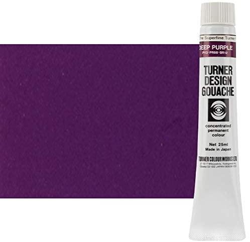 Turner Colour Works Design Gouache Premier Opaque Watercolor Paint - 25 ml Tube - Deep Purple