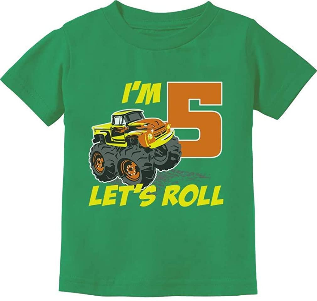 Birthday Gift for 5 Year Old Boy Truck 5th Birthday Boys Toddler Kids T-Shirt