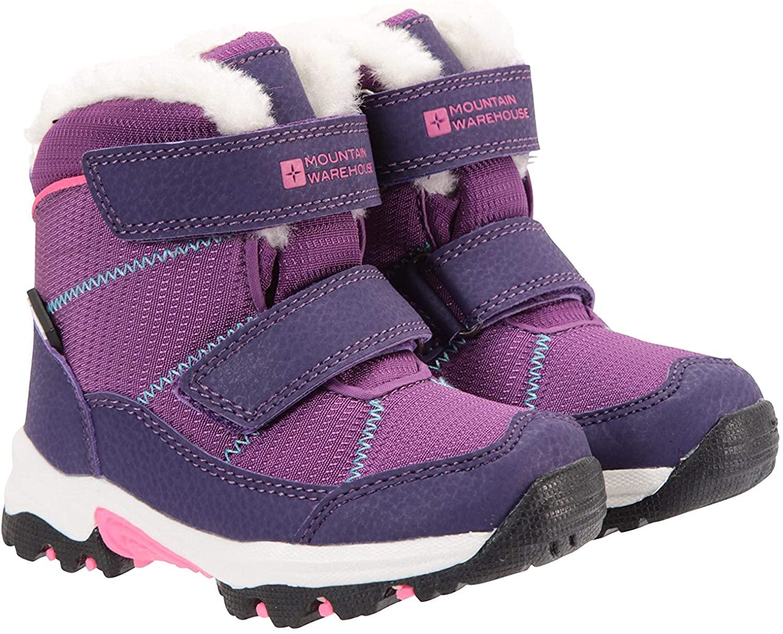 Mountain Warehouse Comet Kids Waterproof Snowboots -Warm Winter Shoes